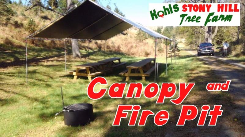 Canopy And Fire Pit Rental